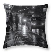 Russian Street Scene At Night 2015 Throw Pillow