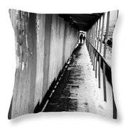 Russian Street Scene Day November 2015 Throw Pillow