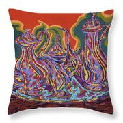 Russian Tea And Coffee Set Throw Pillow