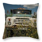 Russian Truck Throw Pillow