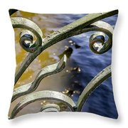 Russian Wrought Iron Throw Pillow by KG Thienemann