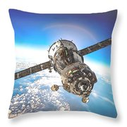 Majestic Blue Planet Earth Throw Pillow