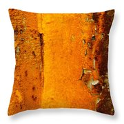 Rust Abstract 2 Throw Pillow