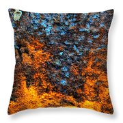Rust Abstract 3 Throw Pillow