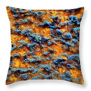 Rust Abstract 6 Throw Pillow