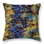 Rust Abstract 7 Throw Pillow