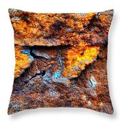 Rust Abstract 9 Throw Pillow
