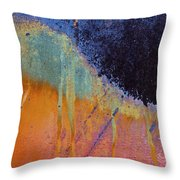 Rust Abstract With Curved Line Throw Pillow