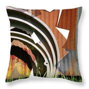 Rust And Our Carbon Footprint Throw Pillow