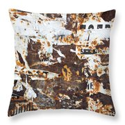 Rust And Torn Paper Posters Throw Pillow