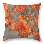Rust Art Throw Pillow
