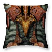 Rust Bone Totem Throw Pillow
