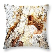 Rust Colored Limestone Rock Throw Pillow