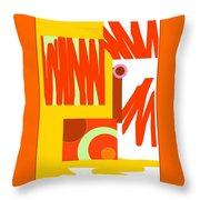 Rust Gold 3 Throw Pillow