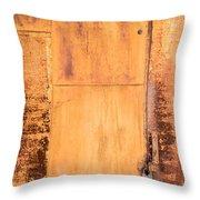 Rust On Metal Texture Throw Pillow