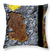 Rust On The Railroad Bridge Throw Pillow