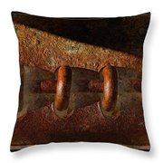 Rust Rings Throw Pillow
