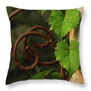 Rust Vine Throw Pillow