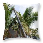 Rusted Anchor Throw Pillow
