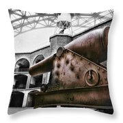 Rusted Cannon Throw Pillow