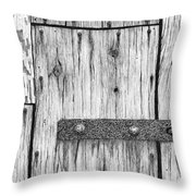 Rusted Lock And Cracked Window Throw Pillow