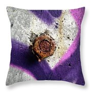 Rusted Nut Throw Pillow