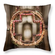 Rusted Prison Gate Throw Pillow