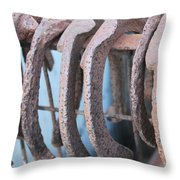 Rusted Shoes Throw Pillow