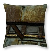 Rusted Steel Support Structure Throw Pillow