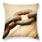 Rusted Strength Throw Pillow