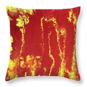 Rusted Sun Throw Pillow