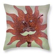 Rusted Sunshine Throw Pillow