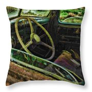 Rusted Truck Window Throw Pillow