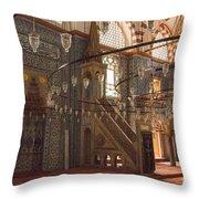 Rustem Pasha Mosque Interior Throw Pillow