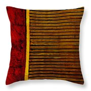 Rustic Abstract One Throw Pillow