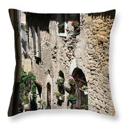 Rustic Provence Alley Throw Pillow