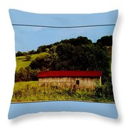Rustic Barn In Carthage Tennessee Throw Pillow