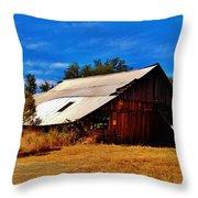 Rustic Barn Of Newcastle Throw Pillow