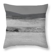 Rustic Cabin In The Snow Throw Pillow