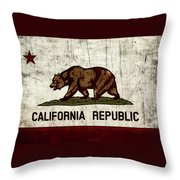 Rustic California State Flag Design Throw Pillow