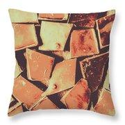 Rustic Choc Block Throw Pillow