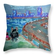 Rustic-city Throw Pillow