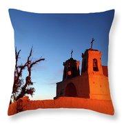 Rustic Colonial Church At Chiu Chiu Chile Throw Pillow