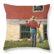 Rustic Courtship Throw Pillow