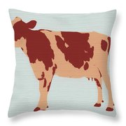 Rustic Cow Throw Pillow