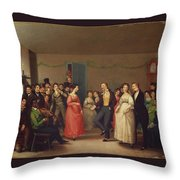 Rustic Dance After A Sleigh Ride Throw Pillow