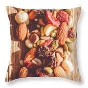Rustic Dried Fruit And Nut Mix Throw Pillow