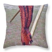 Rustic Eagle 2 Throw Pillow
