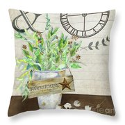 Rustic Farmhouse Our Happy Place Throw Pillow