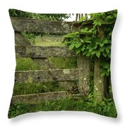 Rustic Gate Throw Pillow